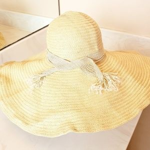 Wide brimmed floppy beach hat